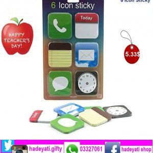 6 icon stickey