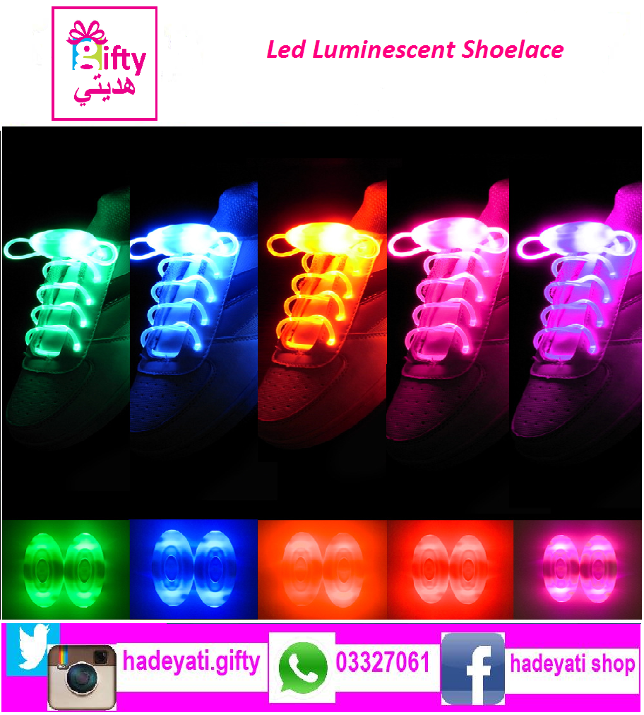 Led Luminescent Shoelace PAIR