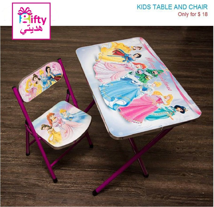 Kids Table & Chair Disney Princesses