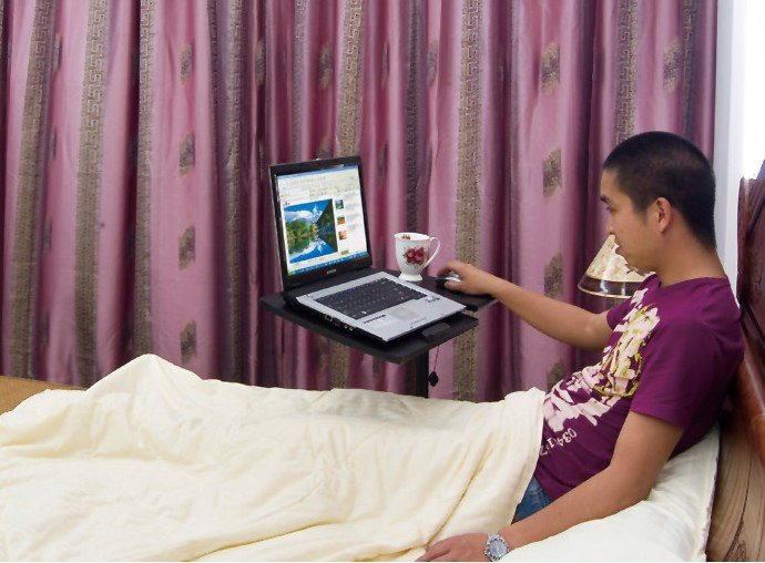 LAPTOP TABLE PORTABLE COMPUTER DESK FLEXIBLE ADJUSTABLE BED TRAY