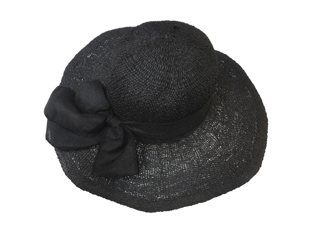 Sea Straw Hat Black
