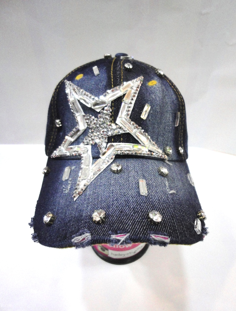 Summer Hat JEANS(DARK), Star