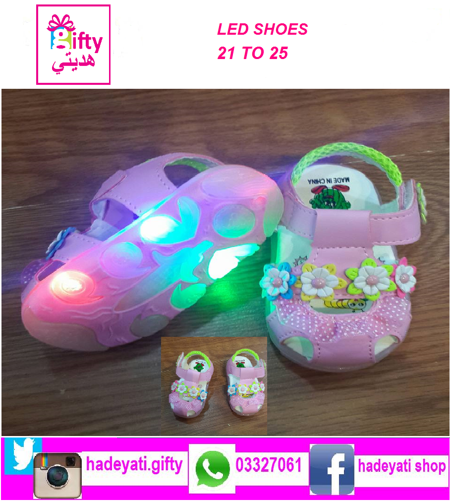 SANDAL LED LIGHT PINK