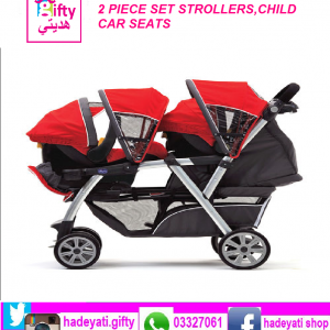 2 PIECE SET STROLLERS,CHILD CAR SEATS