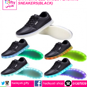 CHARGING LED SHOES FLASHING SNEAKERS BLACK