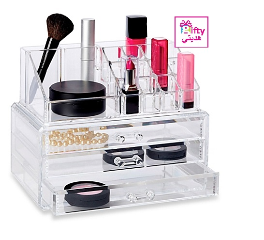 Acrylic Cosmetic Organizer Drawer Makeup Case Storage Holder Box