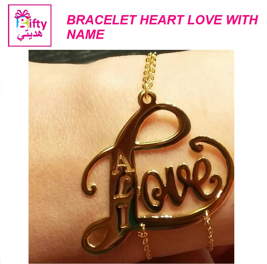 BRACELET HEART LOVE WITH NAME