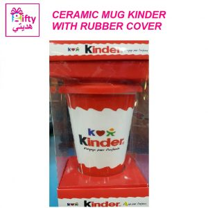 CERAMIC MUG KINDER WITH RUBBER COVER W