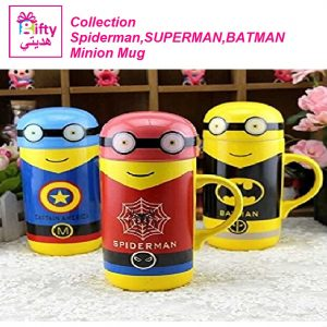 Collection Spiderman,SUPERMAN,BATMAN Minion Mug Big Size W