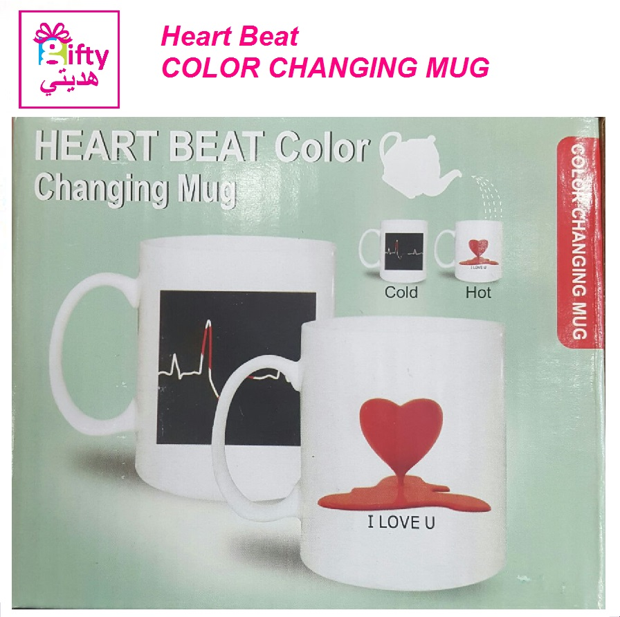 Heart Beat COLOR CHANGING MUG
