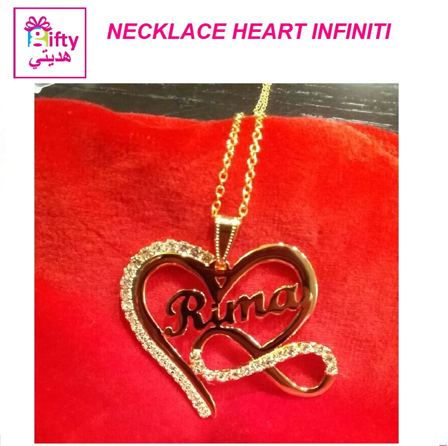 NECKLACE HEART INFINITI