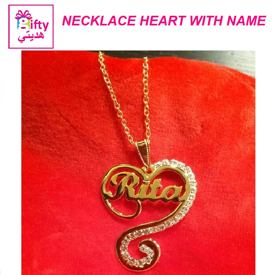 NECKLACE HEART WITH NAME