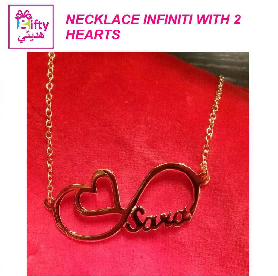 NECKLACE INFINITI WITH 2 HEARTS