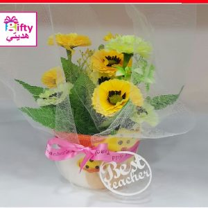 ARTIFICIAL PLANT WITH BEST TEACHER LOGO W1