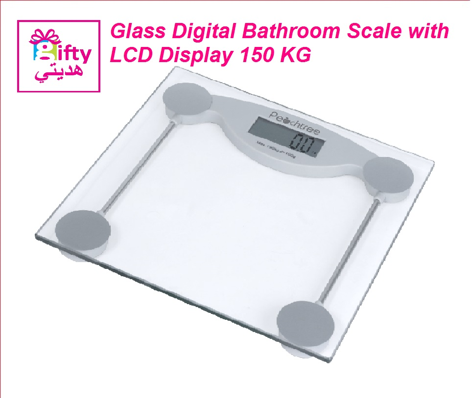 Glass Digital Bathroom Scale with LCD Display