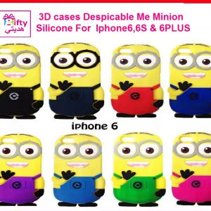 3D cases Cute Cartoon Despicable Me Minion Silicone Case Cover For Iphone6,6S & 6PLUS W