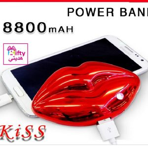 8800MAh for iphone Samsung USB charging Fashion personnal sexy lip kiss power bank battery backup luxury w