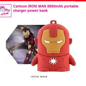 Cartoon IRON MAN 8800mAh portable charger power bank W
