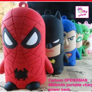 Cartoon SPIDERMAN 8800mAh portable charger power bank W