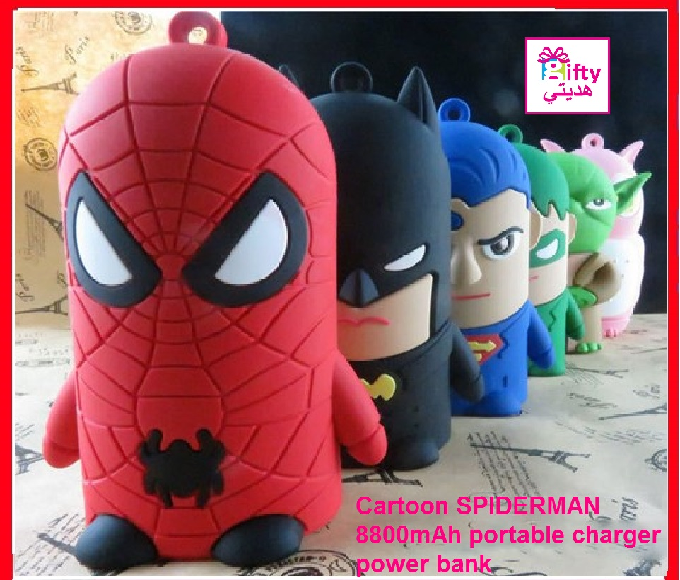 Cartoon SPIDERMAN 8800mAh portable charger power bank
