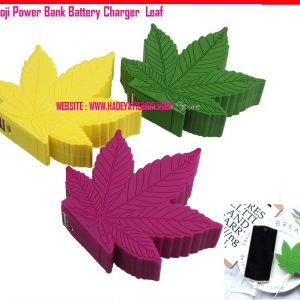 Emoji Power Bank Battery Charger Leaf W