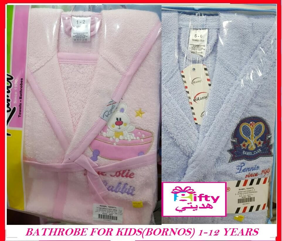 BATHROBE FOR KIDS(BORNOS) 1-12 YEARS