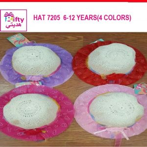 HAT 7205 6-12 YEARS(4 COLORS)w