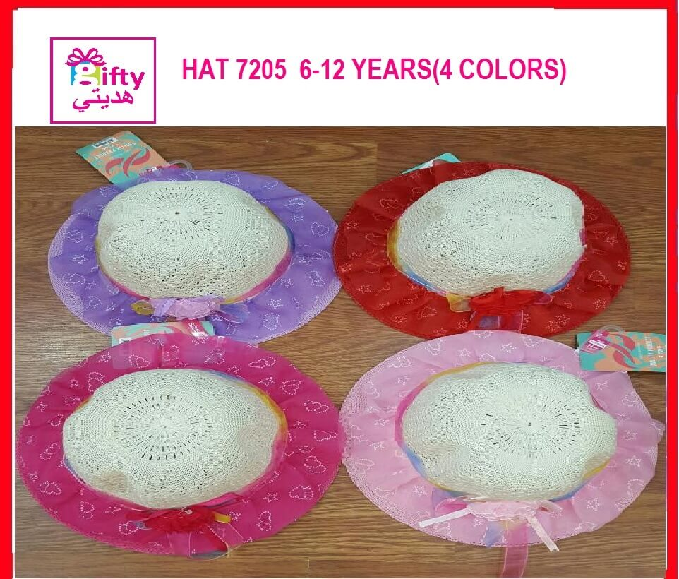 HAT 7205  6-12 YEARS(4 COLORS)