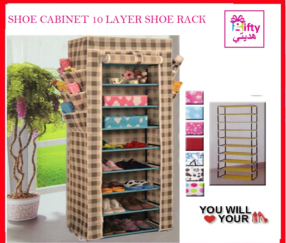 SHOE CABINET 10 LAYER SHOE RACK