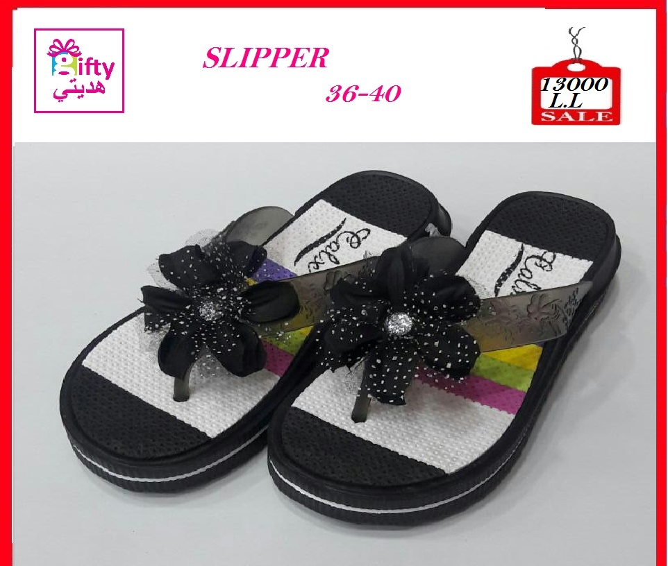 SLIPPER WITH FLOWER