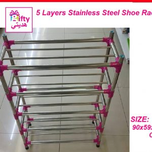 5 Layers Stainless Steel Shoe Rack W