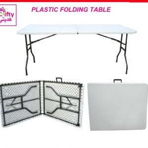 PLASTIC FOLDING TABLE W