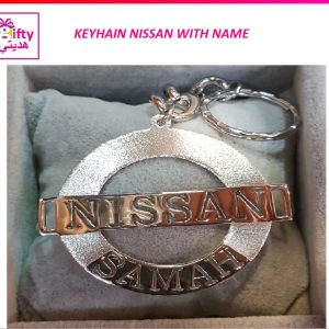 KEYHAIN NISSAN WITH NAME W