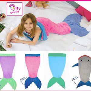 Mermaid & Shark Tail Wrap Soft Fleece Blanket Bed snuggle-in Sleeping Bag w
