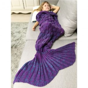 Mermaid Tail Blanket Sleep Bag For Children w