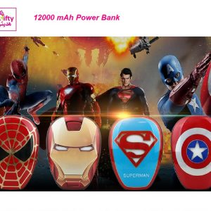 12000mAh PowerBank The Avengers Captain America Iron Spider Super Man w