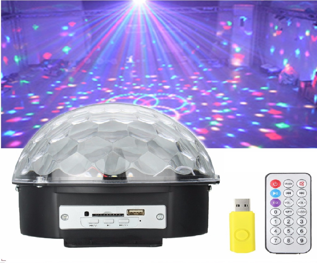 LED Crystal Magic Ball Effect Lamp