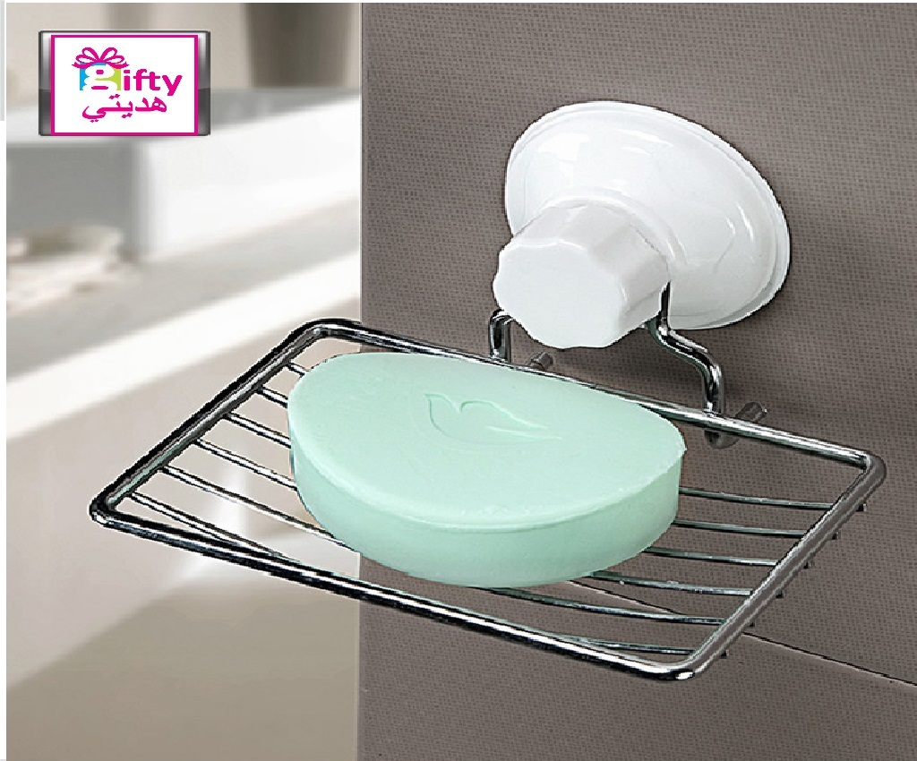 Suction Cup Metal Soap Holder For Shower Room Soap Dish