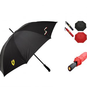 Umbrella Large Windproof Fiberglass Automatic FERRARI W