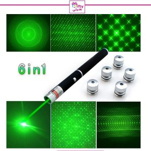 Laser Green Pointer Pen Star Cap High Power 6 in1 5mw Powerful w