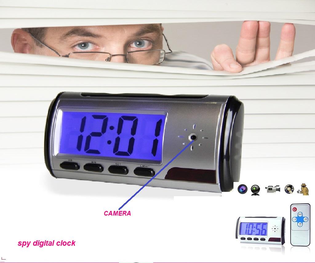 Multi function spy digital clock