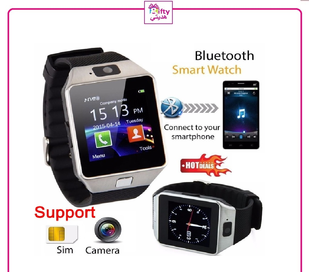 Bluetooth Smart Watch Phone & Camera Support SIM Card For Android/iOS