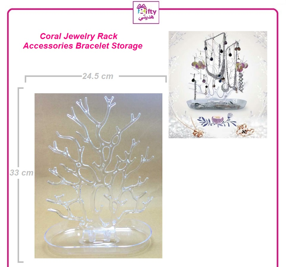 Coral Jewelry Rack Display Accessories Bracelet Storage Tree Shelf Stand Holder