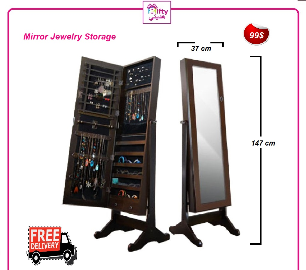 Mirror Jewelry Storage