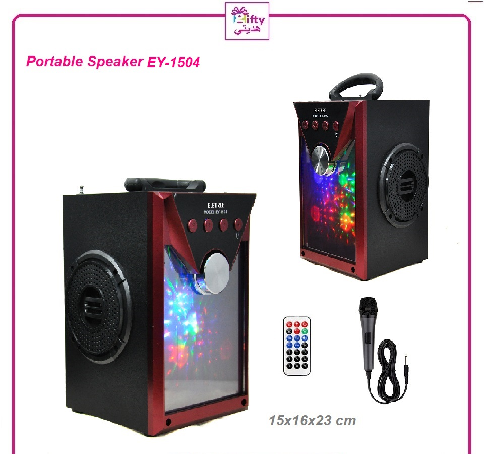 Glass Pannel Mirror Portable Bluetooth Audio Speaker With Control Remote & Mic