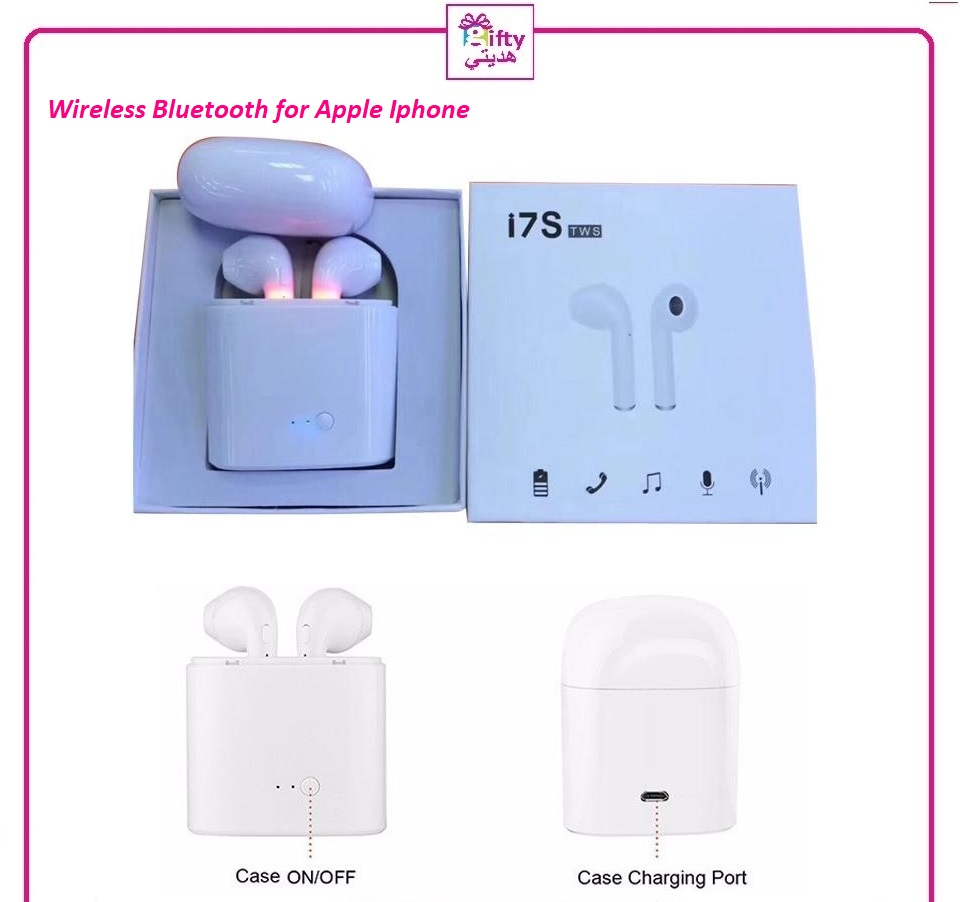 I7S TWS Wireless Bluetooth Earbuds Twins Headphones Headset with Charger Box for Apple Iphone