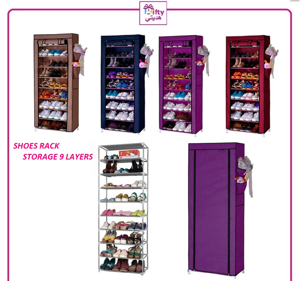 LARGE CAPACITY SHOE CABINET - SHOES RACK STORAGE DIY SIMPLE 9 LAYERS