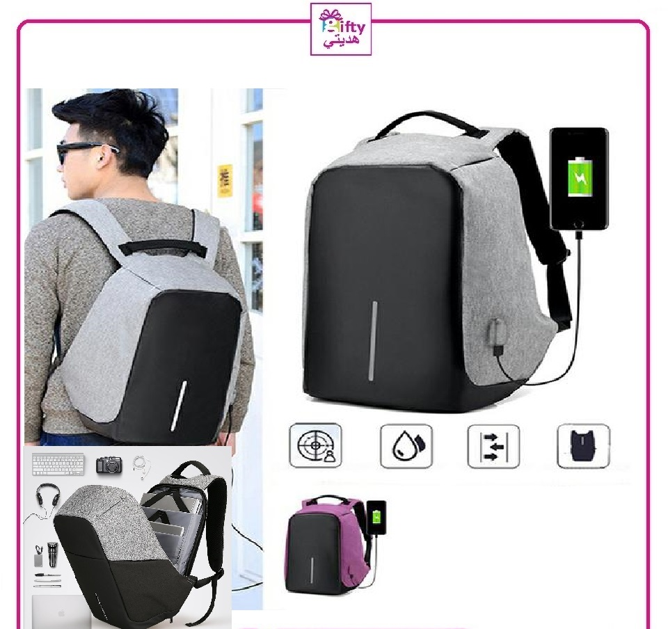 Anti Theft Backpack With Usb Port,Water Resistance