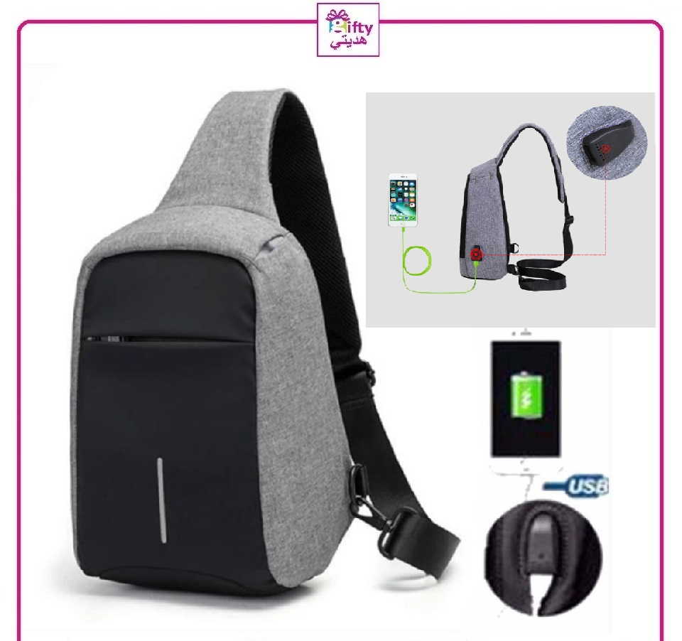 New High Quality Men Messenger Bags Crossbody Slings Shoulder Chest Bags Anti-theft Strap Back Packs laday Casual External USB Charge Travel Bags