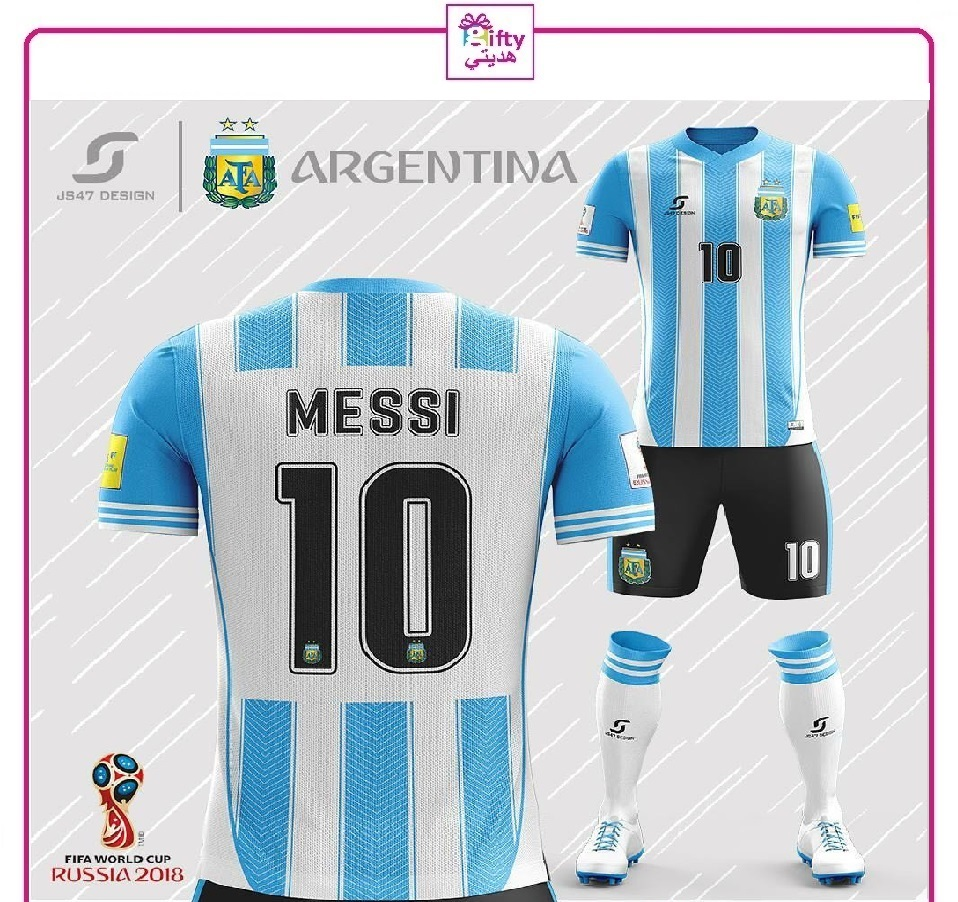 Argentina soccer youth uniform 2018